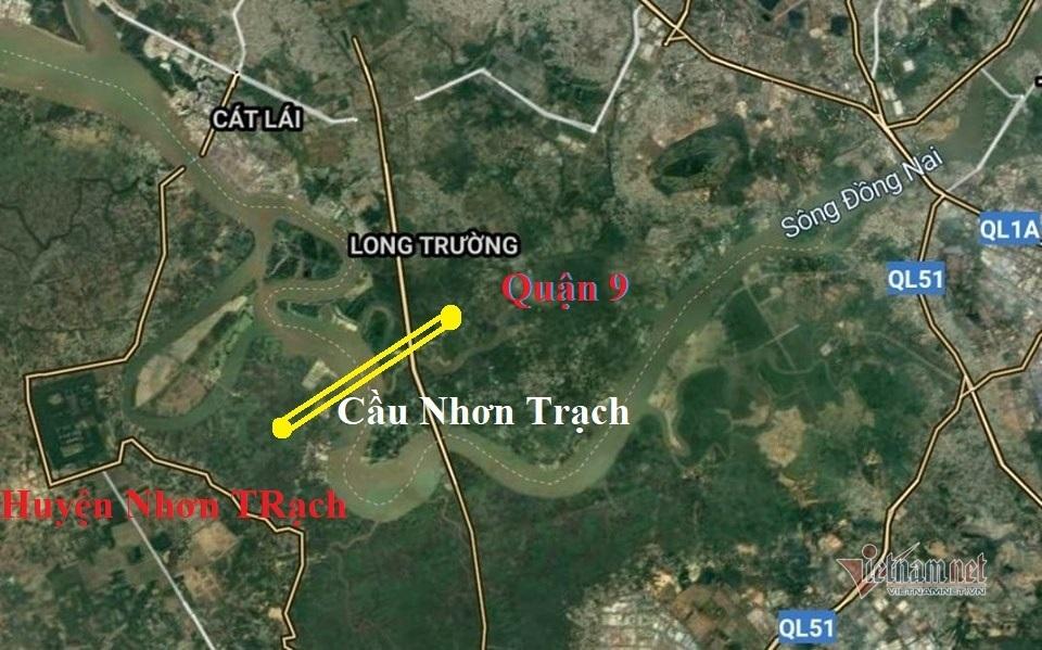 vị trí xây dựng cầu nhơn trạch nối đồng nai với tphcm